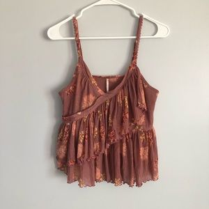 Free people floral layered cami